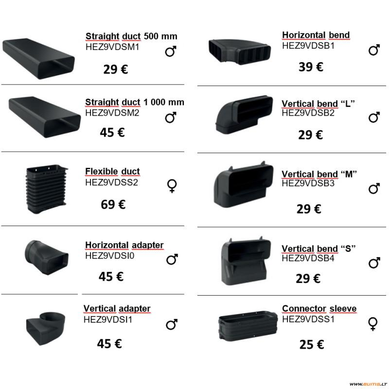 BOSCH ventiliacijos priedai HEZ9.. (Priedų sąrašas)